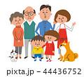 家族 三世代家族 6人家族のイラスト 44436752