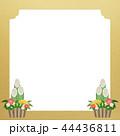 正月 門松 和紙のイラスト 44436811