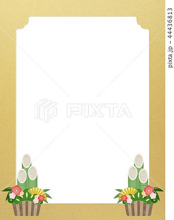 和-和風-和柄-和紙-背景-門松-金箔-正月 44436813