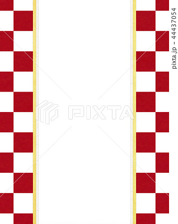 和紙-和-和風-和柄-市松模様-紅白-のし紙 44437054