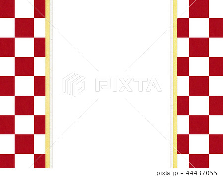 和紙-和-和風-和柄-市松模様-紅白-のし紙 44437055