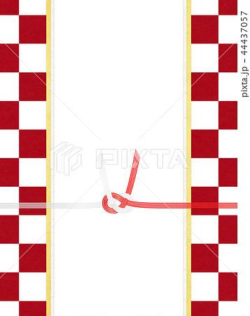 和紙-和-和風-和柄-市松模様-紅白-のし紙-水引 44437057