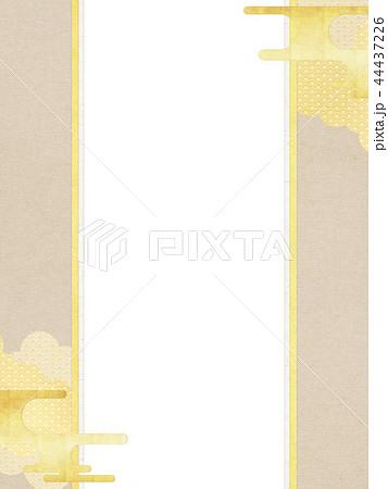 和-和柄-和風-背景-金箔-雲-霞-のし紙 44437226