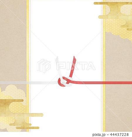 和-和柄-和風-背景-金箔-雲-霞-のし紙-水引 44437228