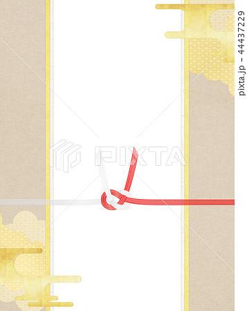 和-和柄-和風-背景-金箔-雲-霞-のし紙-水引 44437229