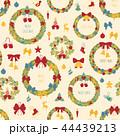 クリスマス リース パターンのイラスト 44439213