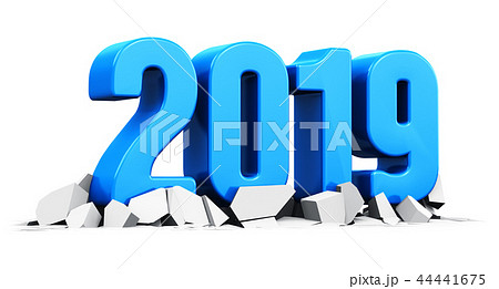 New Year 2019 holiday celebration concept 44441675
