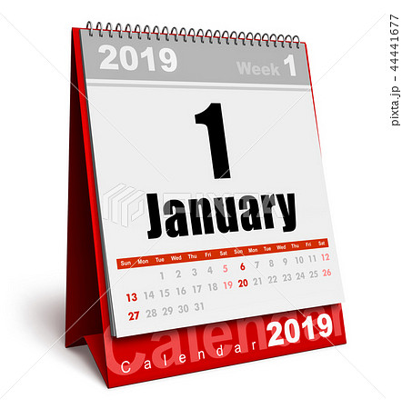 January 2019 New Year calendar 44441677