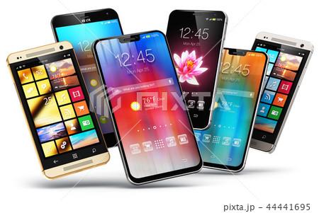 Modern touchscreen smartphones 44441695