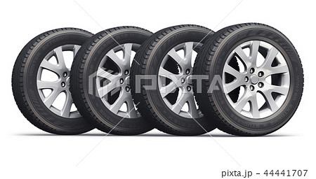 Set of car wheels 44441707