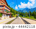 Caux cogwheel railway station in Switzerland 44442118