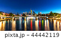 Night panorama of Frankfurt am Main, Germany 44442119