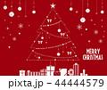 クリスマス クリスマスツリー キラキラのイラスト 44444579