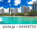 ハワイ ワイキキビーチ ワイキキの写真 44449750