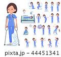flat type surgical wear women_sickness 44451341