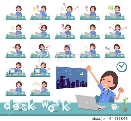 flat type surgical wear women_desk work 44451348