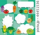 笑顔の野菜たち 吹き出し 44451536