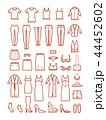 Womens clothing, female fashion line vector icons set 44452602