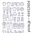 服 服飾 衣服のイラスト 44452604