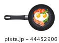 ブレックファースト 朝ごはん 朝食のイラスト 44452906
