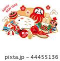 年賀状 正月 亥のイラスト 44455136