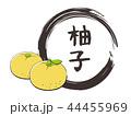 柚子のフレームと文字 44455969