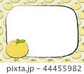 ゆずのパターンとえんぴつ枠 44455982