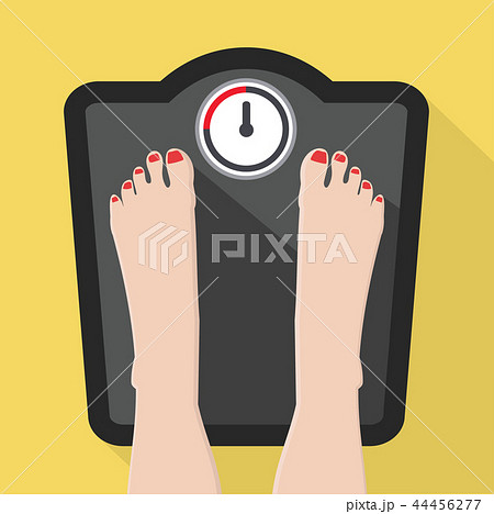 Feet on Weight Scale vector 44456277