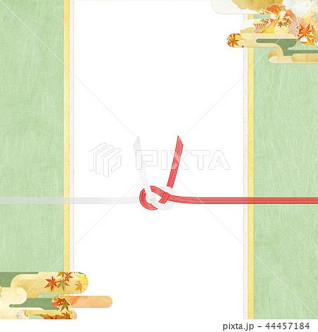 和-和柄-和風-背景-金箔-雲-霞-のし紙-水引-ご祝儀袋 44457184