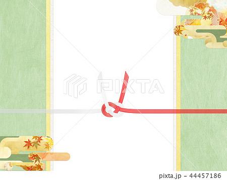 和-和柄-和風-背景-金箔-雲-霞-のし紙-水引-ご祝儀袋 44457186