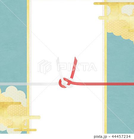 和-和柄-和風-背景-金箔-雲-霞-のし紙-水引-ご祝儀袋 44457234