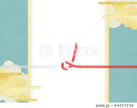 和-和柄-和風-背景-金箔-雲-霞-のし紙-水引-ご祝儀袋 44457236