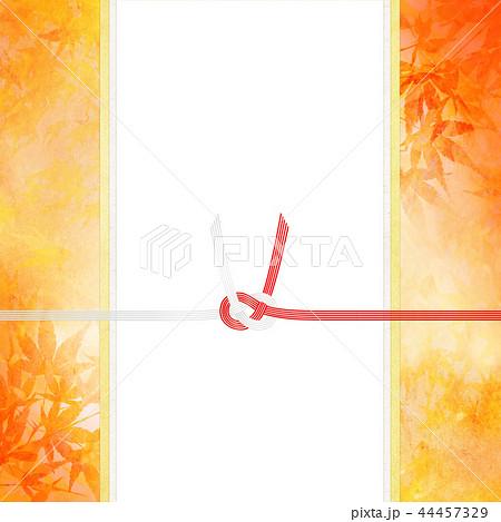 和-和風-和柄-背景-和紙-秋-紅葉-金-水引-のし紙-ご祝儀 44457329