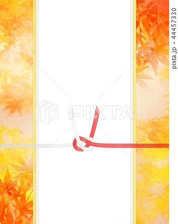 和-和風-和柄-背景-和紙-秋-紅葉-金-水引-のし紙-ご祝儀 44457330