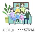 家族 家族団欒 ソファーのイラスト 44457348