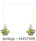 和-和風-和柄-和紙-背景-門松-正月-フレーム-テンプレート 44457406