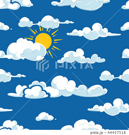 Vector clouds weather seamless pattern 44457518