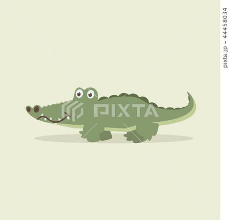 cute crocodile walking cartoon vectorのイラスト素材 44458034 pixta