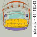 地下鉄 イラスト 椅子 44458143