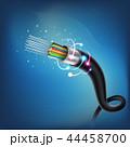 ケーブル ファイバー 繊維のイラスト 44458700