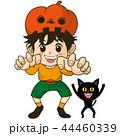 コスプレ 男の子 黒猫のイラスト 44460339