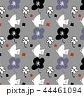 秋の鳥と花のパターン.eps 44461094