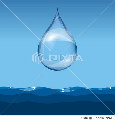 Realistic transparent water drop 44461998