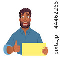 African man holding blank card. 44462265