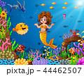 水中 漫画 マーメイドのイラスト 44462507