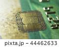 Gold credit cards close up. Macro shot smart card, credit card chip 44462633