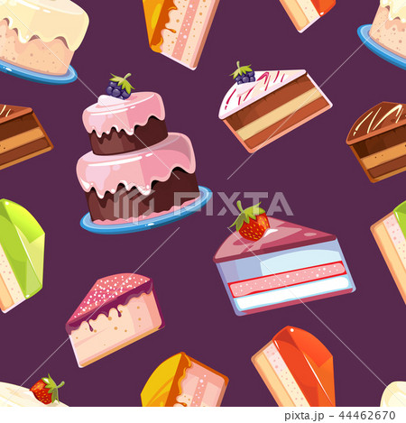Sweets seamless vector pattern 44462670