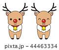 トナカイ 笑顔 動物のイラスト 44463334