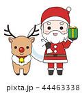 サンタクロースとトナカイ 44463338
