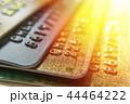 Gold and platinum credit cards close up 44464222